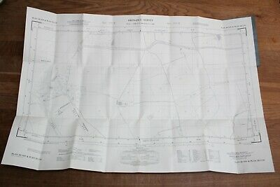 Ordnance Survey Map SE 5450-5550 Yorkshire 25 in to 1 mile RAF Rufforth Airfield