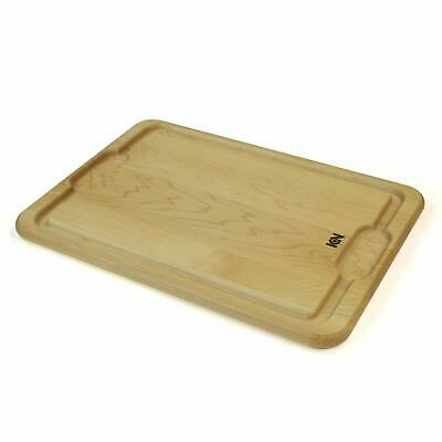 "ICON Maple Cutting Board (Full Juice groove, and Wells) Reversible (Maple, 17"")"