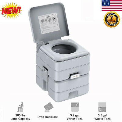 5.3 Gallon 20L Portable Toilet Flush Car Travel Camping Outdoor Potty Commode US