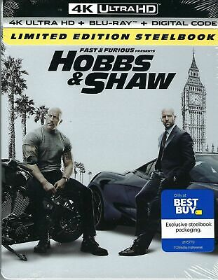 Fast & Furious Presents: Hobbs & Shaw Limited Edition 4K SteelBook BEST BUY