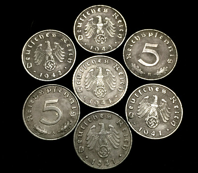 Rarest WWII German 5 Cent Coin Military Army War Collection - World War 2 Era