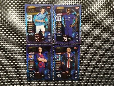Topps Match Attax 19/20 Champions & Europa league, 100 club x 4 cards