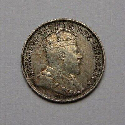 1905 Canada Edward Vii 5 Cents Au Better Date! Super Nice! Must See!!