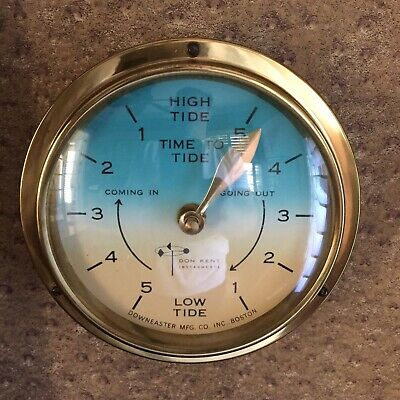 Downeaster Don Ford Mareograph Tides Marine Instrument Nautical Analog Gauge