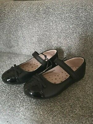 Girls School Shoes Infant Size 10 NEW From Next Black Leather