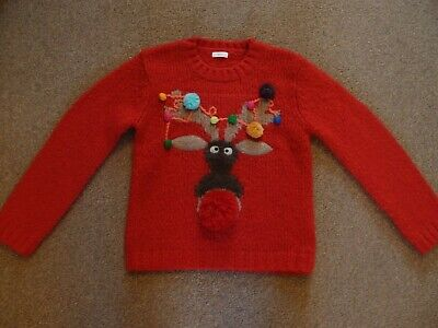 Next Girls Christmas Jumper Age 8 Years, Excellent Condition.