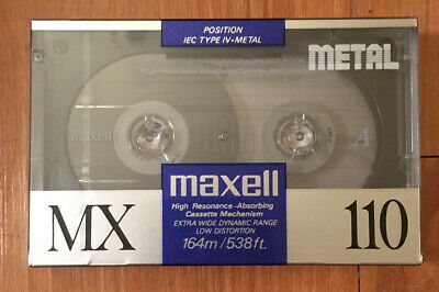 MAXELL MX 110 Metal Type IV Audio Cassette Factory Sealed Made in Japan