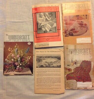 Vintage Workbasket 1960's Home Arts Magazine (Lot of 5)