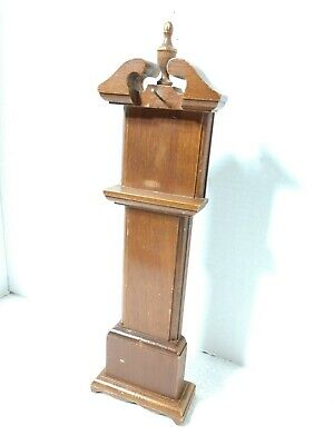"""Vintage Woodcraftery """"Grandfather Clock"""" SHAPE Heirloom Cherry Wood SMALL 13.5"""""""