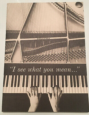 """1962 Steinway Piano """"I See What You Mean"""" 16 Page Booklet"""