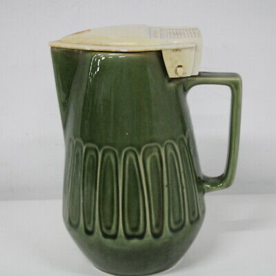 Vintage Speedy Green Ceramic Electric Jug 24 cm ** No Cord** #454