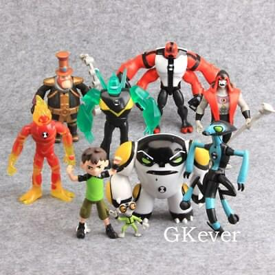 Set 9 personaggi Ben 10 Action Figure Statuette PVC