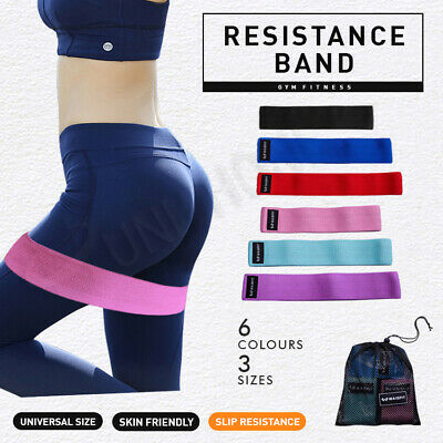 【2020 New】Fabric Resistance Loop Bands Band Crossfit Strength Fitness GYM Glutes