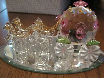 Crystal World Fantasy Cinderella Coach ( Med ) Figurine New In Box