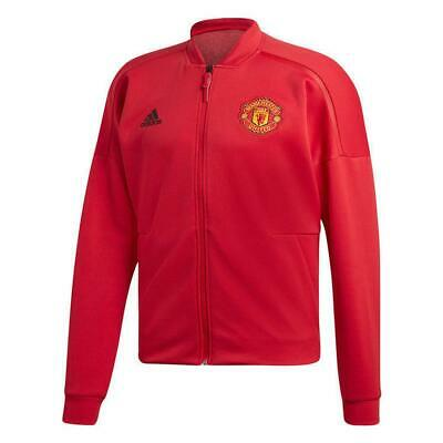 adidas Manchester United Mens Football Red ZNE Track Jacket 2018 19 CW7670