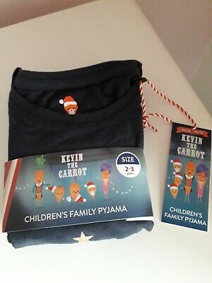 Official Kevin The Carrot Children's Family Christmas Pyjama's aged 2-3 Years 🥕