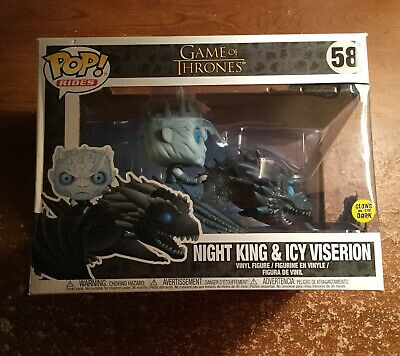 Game of Thrones Night King & Icy Viserion #58 Glow in the Dark Funko Pop Rides
