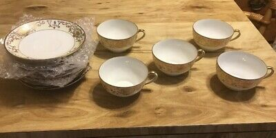 5 Nippon Cups & Saucers Christmas Ball Or Number 175 Pattern