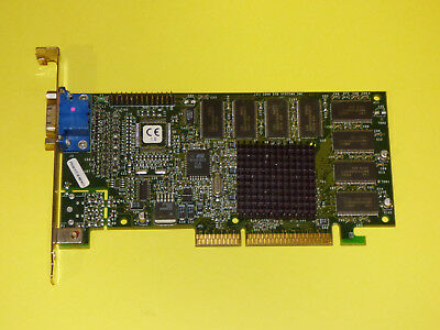 3dfx Voodoo3 2000 16MB 128-bit SDRAM AGP 2x Glide VGA Video Graphics Card TESTED