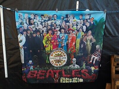 2009 The Beatles Throw Blanket / Tapestry -  SGT Peppers Lonely Hearts Club Band