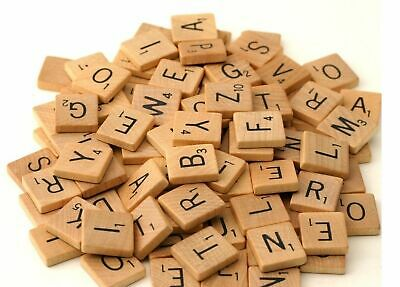 Wooden Scrabble Tiles Black Letters Numbers For Crafts Wood Alphabets 100