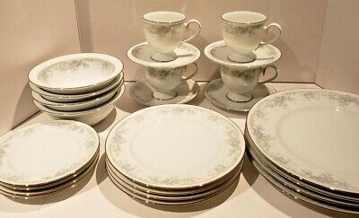 Vintage Noritake LIMERICK 3063 Dinner Service for Four Amazing Shape Must see!