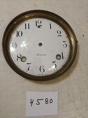Sessions  Tambour Mantle Clock Porcelain Dial And Bezel With Glass