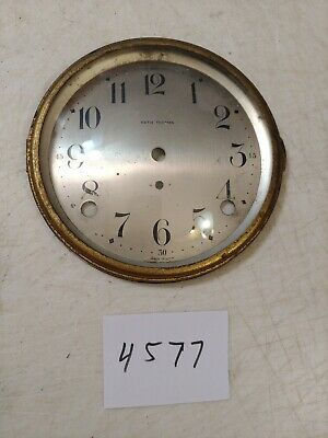 Antique Seth Thomas  Mantle Clock Dial & Bezel & Glass From 89 Movement