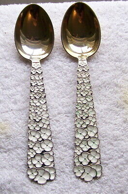 A. Michelsen 56 Sterling Silver Christmas Spoons Snow Flowers