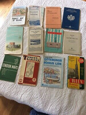 Antique Maps Assorted Mainly Europe  From  1930 of Wonderful Selection Of Maps