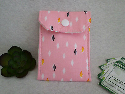 Fabric Business Card Holder Birth Control Case Woodland Critters Handmade