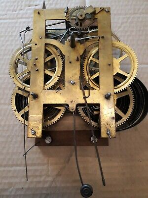 mid 1800s clock movement Jerome & Co, New Haven, Conneticut spares/repairs steam
