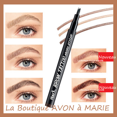 TATTOO BROW Stylo Tatouage Sourcils Mark AVON : LONGUE TENUE & SEMI PERMANENT