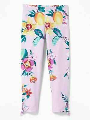 NWT GIRLS OLD NAVY CAPRI LEGGINGS FLORAL SIZE large 8 14 SUMMER SPRING SIZE M XL
