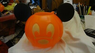DISNEY MICKEY MOUSE PUMPKIN BLOW MOLD HALLOWEEN CANDY BOWL can be lighted NEW