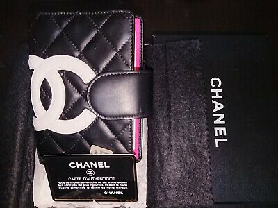 CHANEL Agenda NEW IN BOX - Quilted Black and White / Hot Pink