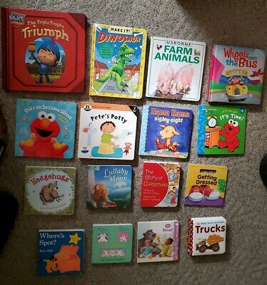 Lot 15 Children's Baby Board Books Kids Toddlers Babies Preschool Daycare 8 NEW
