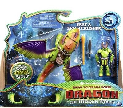 How to Train Your Dragon Eret and Skullcrusher Action Figure Set (NEW+SEALED)