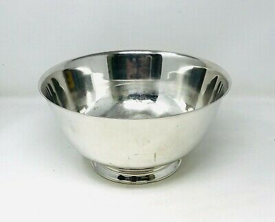 """Very Large Paul Revere Reproduction WM Rogers 12"""" Silverplate Bowl"""