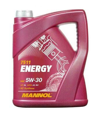 5L Litre Mannol Energy 5W30 Zetec Fully Synthetic Engine Oil Sl/Cf Acea A3/B3