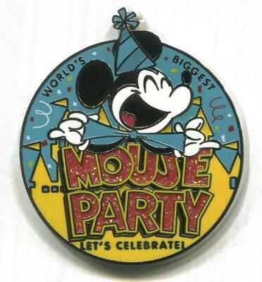 """MICKEY 90th Birthday """"World's Biggest Mouse Party Let's Celebrate"""" Disney Pin"""