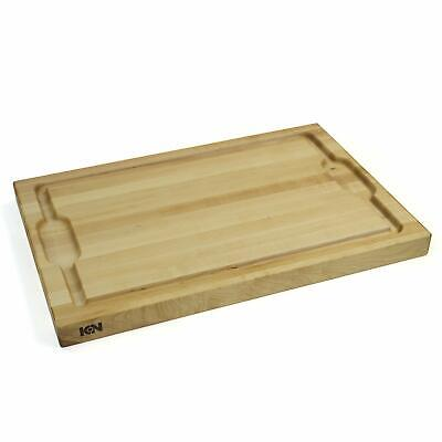 "ICON Maple Cutting Board (Full Juice groove, and Wells) Reversible (Maple, 18"")"