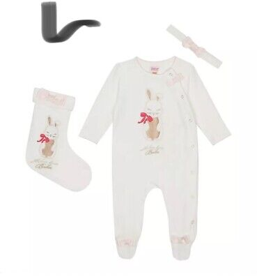 Baker by Ted Baker-Baby Girls' Sleepsuit, Headband and Stocking Set 9-12 Months