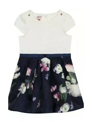 Ted Baker - 'Girls' navy floral print dress BNWT 18-24 Months