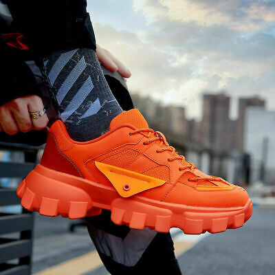 Men's platform Athletic Sneakers Sports Running Shoes Casual Dorky Dad Shoes