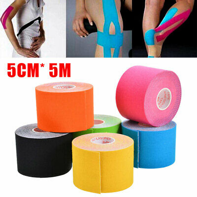 6 Rolls 5M Kinesiology Tape Sports Physio Muscle Strain Injury Pain Support Ares