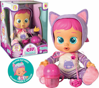 BAMBOLA INTERATTI CRYBABIES KATIE PIANGE IMC TOYS scatola danneggiata CRY babies