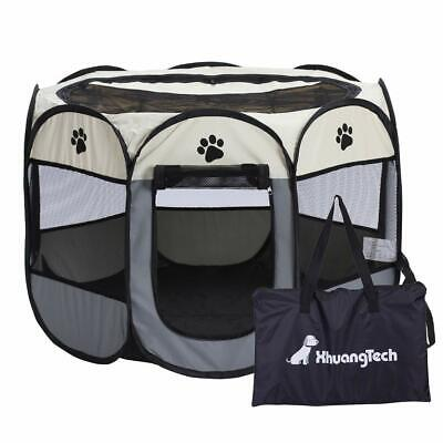 Pet Dog Cat Cage Crate Portable Folding Exercise Kennel Puppy Pet Indoor Outdoor