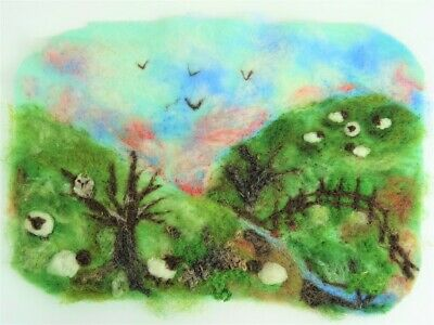 Winter Landscape Needle Felting Kit by The Makerss - makes 1 A4 picture