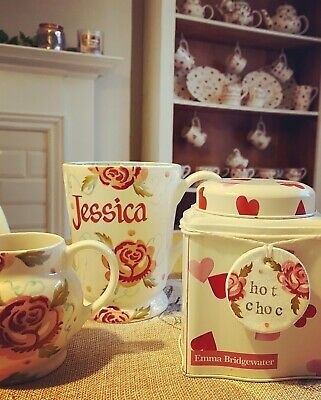 Emma Bridgewater Themed Handmade Clay Tags - SCATTERED ROSE - HOT CHOC